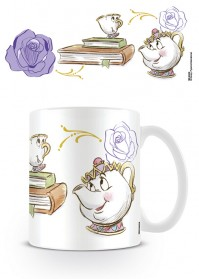 Beauty and the Beast Chip EnchantedTea Coffee Mug Disney Dance
