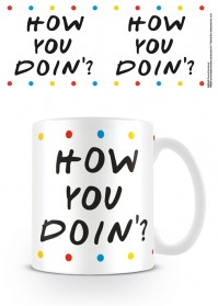 Friends Official How you Doin Dots Joey Ceramic Mug Cup Tea Coffee Chandler