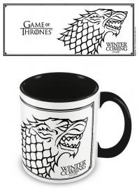 Game Of Thrones Official Stark Coloured Inner Ceramic Mug Cup Tea Coffee