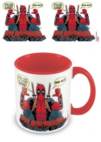 Marvel Comics Official Deadpool Two Thumbs Up Tea Coffee Mug Coloured Inner
