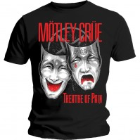 Motley Crue Mens Black T Shirt Theatre of Pain Cry Official