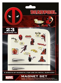 Deadpool Marvel Comic Multicoloured 23 Piece Fridge Magnet Set Gift Official