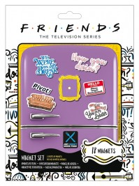 Friends How You Doin' Multicoloured 18 Piece Fridge Magnet Set Gift Official