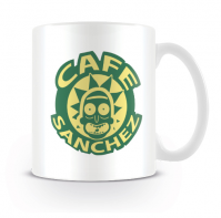Rick and Morty Cafe Sanchez Mug Coffee Tea Cup Boxed Fun Novelty Drink