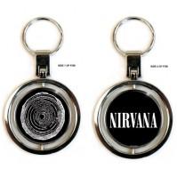 Nirvana Official Vestibule Spinning Key Ring Chain Metal Fob Kurt Cobain