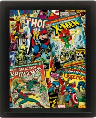 Marvel Comics Collection Montage Thor X-Men Spiderman 3D Motion Poster Official