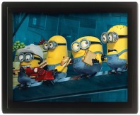 Minions Despicable Me 2 Working On Skyscraper 3D Motion Movie Poster Official