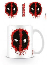 Deadpool Splat Face Logo Film Movie Marvel Comics Coffee Mug Tea Cup Official