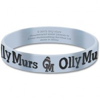 Olly Murs Blue Wristband Gummy Rubber Bracelet Band Logo Gift Fan 100% Official