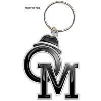 Olly Murs Initials Name Logo Metal Silver Black Keychain Keyring Fan Official