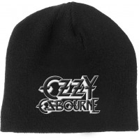 Ozzy Osbourne Official Black And White Logo Beanie Hat Unisex Adult Mens