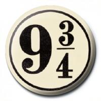 Harry Potter Pin Badge Button Brooch Platform 9 3/4 Train Station Official