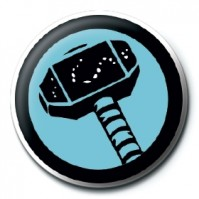 Marvel Comics Thor Icon Logo Iron Avengers Official 25mm Button Pin Badge
