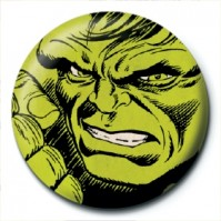 Marvel Comics Retro Hulk Face Avengers Official 25mm Button Pin Badge