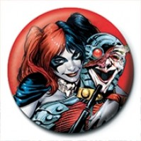 DC Comics Harley Quinn Red Official 25mm Button Pin Badge Suicide Squad
