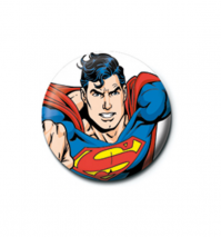 Superman Flying 25mm Button Pin Badge DC Comics Justice League Logo