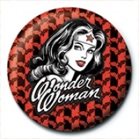 DC Comics Justice League Wonder Woman Red Official 25mm Button Pin Badge