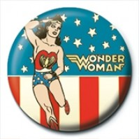 DC Comics Justice Wonder Woman Stars And Stripes Official 25mm Button Pin Badge