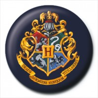 Harry Potter Pin Badge Button Brooch Hogwarts School Crest Logo Official