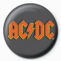 AC/DC Logo 25mm Button Badge Pin Band Group Music Rock