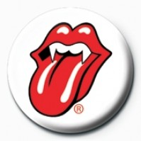 Rolling Stones Lips Fangs Official 25mm Button Pin Badge Band Logo Badge