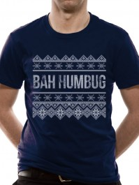 Christmas Bah Humbug Navy Blue Unisex T Shirt Scrooge Mens Ladies Womens Girls