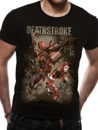 Justice League Deathstroke Unisex Black T Shirt Harley Quinn Suicide Squad DC