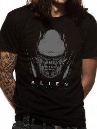 Alien Covenant Xeno And Logo Official Unisex Black Size Small T-Shirt Womens Mens
