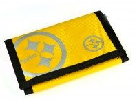 Pittsburgh Steelers NFL Wallet  Black Yellow Silver Badge Folding Official