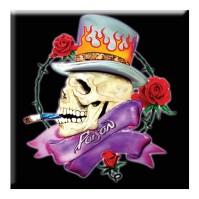 Poison Smoking Skeleton Logo Steel Metal Fridge Magnet TV Show Band Fan Official