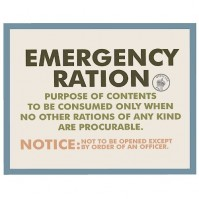 Emergency Ration Postcard Retro Official