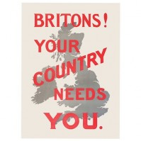 Britons! Your Country Needs You Postcard Retro Vintage Style Official