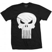 Marvel Comics Black White Punisher Skull T-Shirt Mens Small Daredevil Official