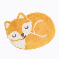 Woodland Fox Shaped Nursery Rug Mat Bedroom Playroom Carpet Fun Cute Happy Kids