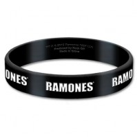 Ramones Black Wristband Gummy Rubber Bracelet Band Logo Name Gift Official
