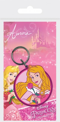 Disney Princess Aurora Sleeoing Beauty Rubber Keychain Girls Kids Bag Belt Official