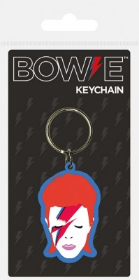 David Bowie Aladdin Sane Colourful Official Rubber Keychain Keyring Rubber Metal