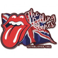 The Rolling Stones Lick The Flag UK Tongue Iron Sew Clothing Badge Patch Decal
