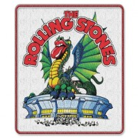 The Rolling Stones Dragon Logo Iron Sew On Clothing Badge Patch Decal Official