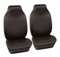Universal Black Car Seat Cover Defender Front Pair Easy Fit And Clean Protects