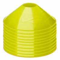 Nike Official Pack Of 10 Neon Yellow Training Cones Sports Football Sport Marker