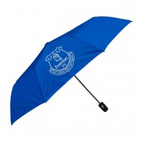 Everton Football Club Official Automatic Umbrella Compact Folding Badge Crest