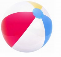 Matte Panel Inflatable Beach Ball 50 cm Party Holiday Outdoor Swimming Pool Game
