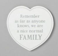 Family Nice Normal Family Heart Coaster White Modern Artisan Design Interior
