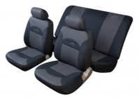 Universal Car Seat Covers Full Set Black And Grey Celcius Interior Padded
