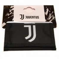 Juventus Football Club Official Black And White Tri Fold Wallet Crest Badge Team
