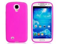 Samsung Galaxy S4 Case Pink Soft Gel Cover And 1 x Screen Protector 1 x Cloth