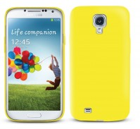 Samsung Galaxy S4 Case Yellow Soft Gel Cover And 1 x Screen Protector 1 x Cloth