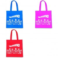 Various Colour The Beatles Sgt Pepper Band Tote Shopping Bag Eco Friendly Official