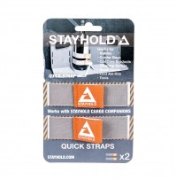 Stayhold Elasticated Quick Straps 2 Pack Grey Car Boot Organiser Storage